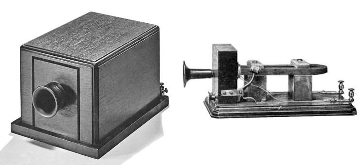 Bell's Box Telephone, the first commercial telephone.